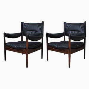 Modus Sessel mit Gestell aus Palisander von Kristian Vedel für Søren Willadsen Møbelfabrik, 1960er, 2er Set