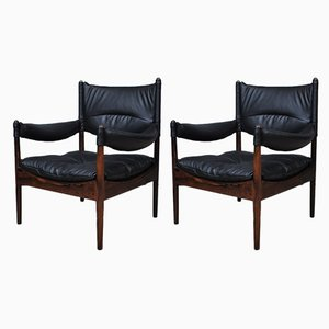 Modus Rosewood Lounge Chairs by Kristian Vedel for Søren Willadsen Møbelfabrik, 1960s, Set of 2