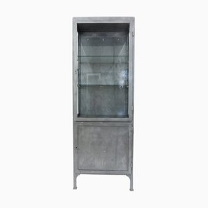 Vintage Polish Sandblasted Metal Medical Cabinet, 1930s