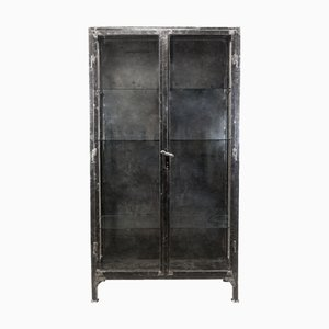 Large Vintage Industrial Polish Medical Cabinet, 1930s
