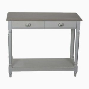 Mid-Century Console Table with 2 Drawers