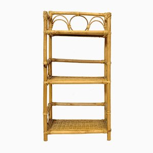 Vintage French Rattan Etagere, 1970s