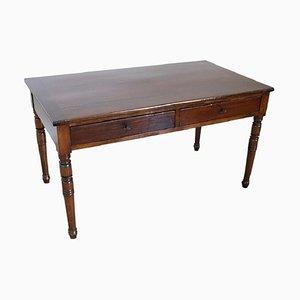 Antiker italienischer Schreibtisch aus Nuss- & Pappelholz