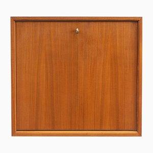 Vintage Walnut Veneer Wall Cabinet, 1960s