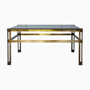 Mid-Century Brass & Glass Coffee Table, 1970s