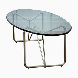 Table Basse Ovale Mid-Century en Verre
