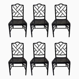Chippendale Style Dining Chairs, 1970s, Set of 6