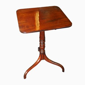 Antique Mahogany Regency Tilt-Top Side Table