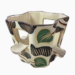 Cenicero italiano vintage de cerámica de Cama Deruta, años 60
