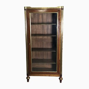 Antique Louis XVI Style Mahogany Veneer Display Cabinet