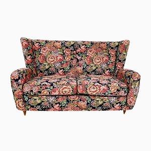 Italienisches Vintage Sofa mit floralem Motiv von Paolo Buffa, 1950er