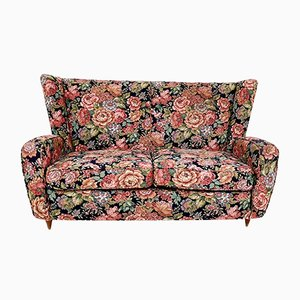 Vintage Italian Floral Fabric Sofa by Paolo Buffa, 1950s