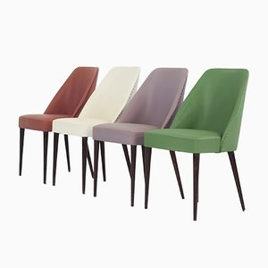 Vintage Italian Dining Chairs from Figli di Amedeo Cassina, 1950s, Set of 4