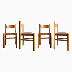 Birch Dining Chairs, 1950s, Set of 4