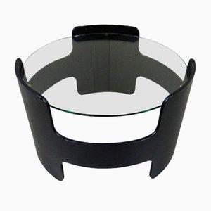 Tavolino nero in compensato, anni '60