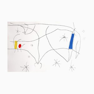 L'issue Dérobée Aquatint by Joan Miro, 1974