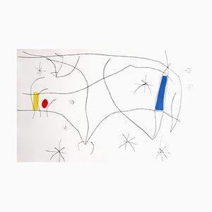 L'Issue Dérobée Aquatinta-Radierung von Joan Miro, 1974