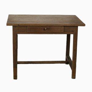 Scrivania vintage in legno di quercia massiccio con cassetto