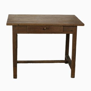 Vintage Schreibtisch aus massiver Eiche mit Schublade