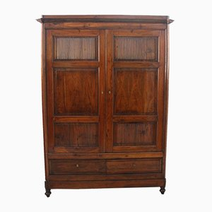 Antique Italian Charles X Walnut Cabinet