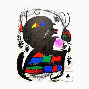 Lithographie Abstraite par Joan Miro, 1976