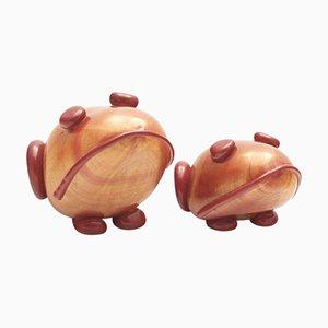 Vintage Froschfiguren aus Muranoglas von Mario Costantini für Cenedese, 2er Set