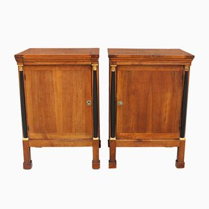 Tables de Chevet Empire Antiques en Noyer, Set de 2