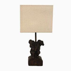 Antike skulpturale Tischlampe von Miquel Osle