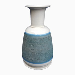 Blue Ceramic Vase by Franco Bucci for Laboratorio Pesaro, 1970s