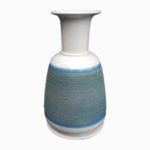 Jarrón en azul de cerámica de Franco Bucci para Laboratorio Pesaro, años 70