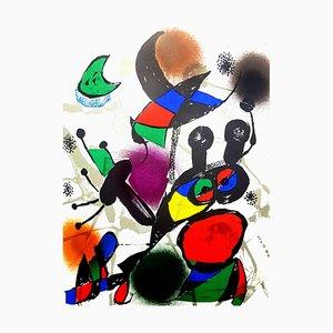 Abstrakte Lithografie von Joan Miro, 1976