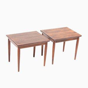 Tavolini Mid-Century in palissandro, Danimarca, anni '60, set di 2