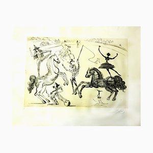 Acquaforte su pergamena The Circus di Salvador Dali, 1965