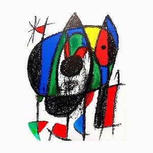 Abstrakte Lithografie von Joan Miro, 1975