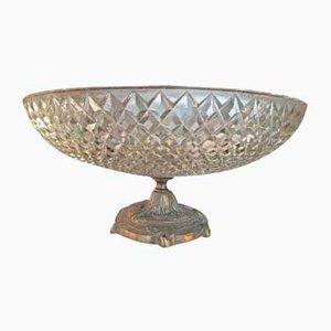 Schale aus Bronze & Glas, 1930er