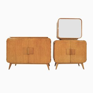 Vintage Sideboard & Showcase Set by Jindřich Halabala for UP Závody, 1946