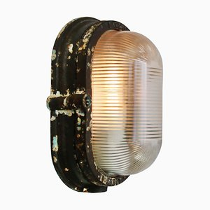 Cast Iron Sconce from Holophane, 1930s
