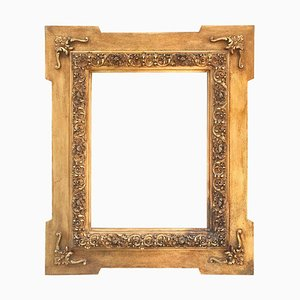 Antique Spanish Carved & Gilded Wood Frame