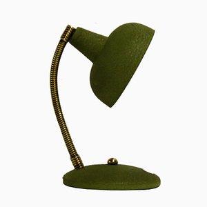 Lámpara de escritorio italiana en verde, años 50