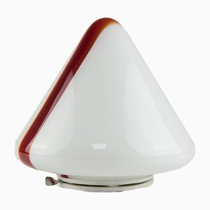 Red & White Murano Glass Ceiling Lamp by Renato Toso for Leucos, 1972
