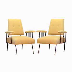 Italian Armchairs, 1950s, Set of 2