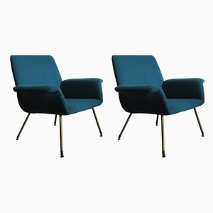 Vintage Italian Lounge Chairs by Augusto Bozzi for Saporiti Italia, 1960s, Set of 2