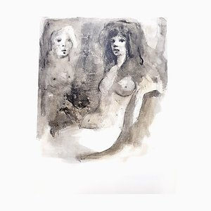 Young Beauty Lithograph by Leonor Fini, 1964