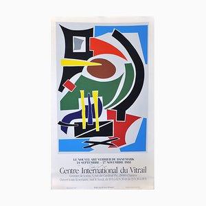Large Exhibition Screen Print by Robert Jacobsen, 1988