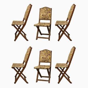 Chaises Pliantes Vintage, 1960s, Set de 6