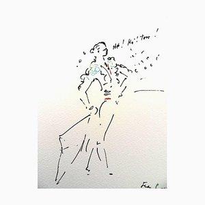 Lithographie He! He! Toro par Jean Cocteau, 1961