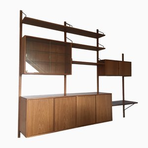 Large Vintage Teak Modular Wall Unit by Poul Cadovius for Cado, 1960s