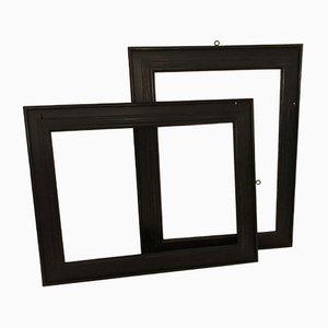 Vintage Ebonized Wooden Frames, 1960s, Set of 2