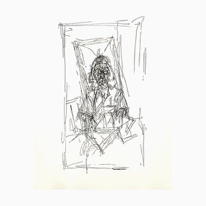 Lithographie Portrait par Alberto Giacometti, 1956