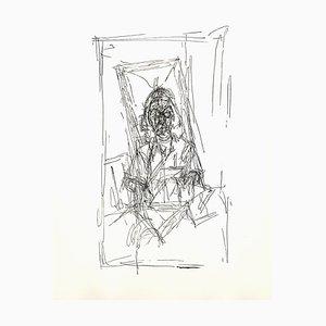Portrait Lithografie von Alberto Giacometti, 1956